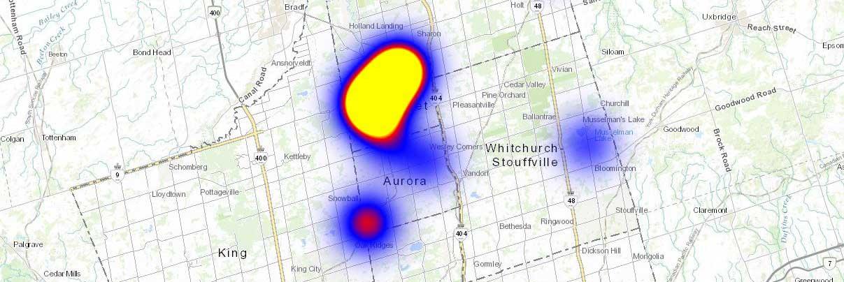 Region of York - map - advanced alarm functionality
